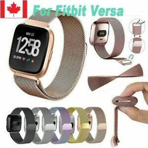 New-Replacement-For-Fitbit-Versa-Watch-Band-Wrist-Stainless-steel-Metal-Strap-CA