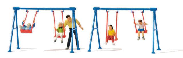 Preiser 10630 H0 Figuren 1:87 - Kinder auf der Schaukel - NEU in OVP