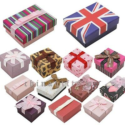 Optional styles quantity party jewelry gift boxes wedding ring case home decor