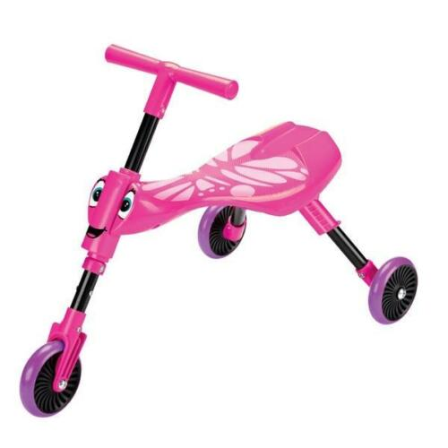 Scuttlebug Butterfly Pink Toddler Ride On Foldable Trike Ages 1-3 Kids Wheels