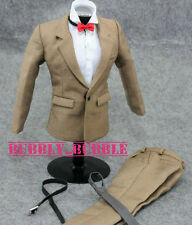 """1/6 Clothes Khaki Color Suit Full Set For 12"""" Male Figures SHIP FROM USA"""