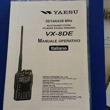 MANUALE IN ITALIANO  ORIGINALE  istruzioni d'uso per YAESU VX-8DE