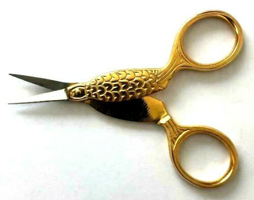 Burbig broderie Titane poisson Craft Couture Ciseaux Tailleur Couture Vendeur Britannique