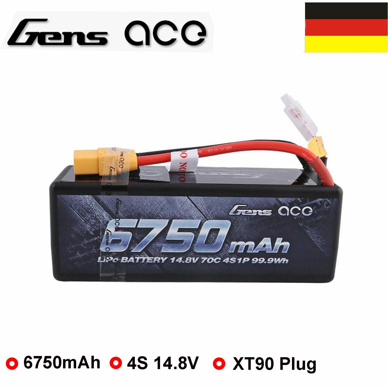 Gens Ace 6750mAh 14.8V 70C 4S HardCase  Lipo Batteria XT90 Spina Per Camion Auto  Felice shopping