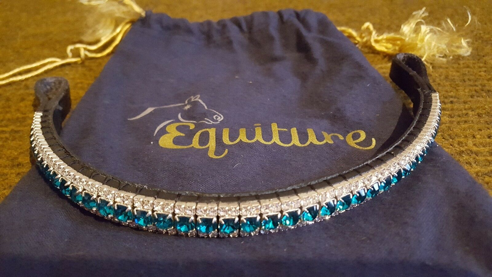 Equiture Diamante Crystal Browband bluee white 14