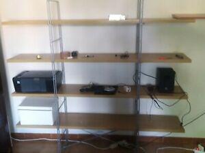 Ikea Scaffali In Legno.Scaffale Enetri Legno 170x158 Cm Ikea Ebay