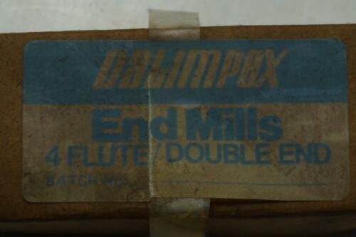 """3//8/"""" shank. 4 New Dalimpex UK Made 3//8/"""" No43D HSS 4 Flute Double End mill"""