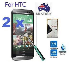 2x-Tempered-Glass-Screen-Protector-HTC-One-A9-M8-M9-M9-Plus-M10-Desire-820