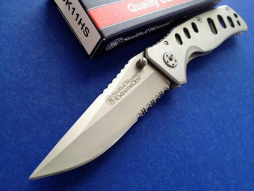 Couteau Smith/&Wesson Extreme Ops Lame Acier Carbone Manche Acier SW11HS