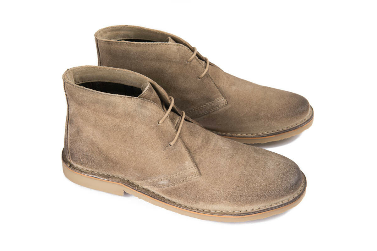 Ikon Canyon Hombre Taupe Ankle Beige Suede Desert Botas Ankle Taupe Zapatos Lace Up 60s Rock e73e87