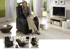 fernsehsessel 2 motorisch mit aufstehhilfe leder hukla espresso ebay. Black Bedroom Furniture Sets. Home Design Ideas