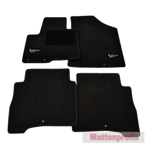 MP Velour Fußmatten Edition passend für Hyundai Santa Fe 2 II CM ab Bj.2006-2012