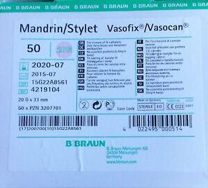 10 X St. Pièce Mandrin Stylet Pour Vasofix ® Vasocan ® Cathlon Vd 07/20-nüle Vd 07/20 Fr-fr Afficher Le Titre D'origine Texture Nette