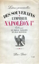 C1 Lettres des SOUVERAINS A L EMPEREUR NAPOLEON Autriche Prusse Bade ALLEMAGNE