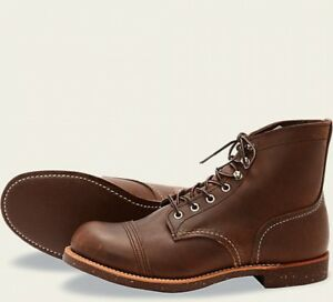 Bottes Hommes Wing Iron 8111 Red Work Marron Heritage Ranger Amber Harnais BE6pqnw