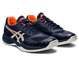 Asics Homme Netburner balistique FF Cour Chaussures-Bleu Marine Sports Squash