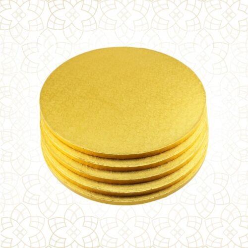 Cakeboard CULPITT 13 mm 5 x Cake Drum 25 cm rund GOLD