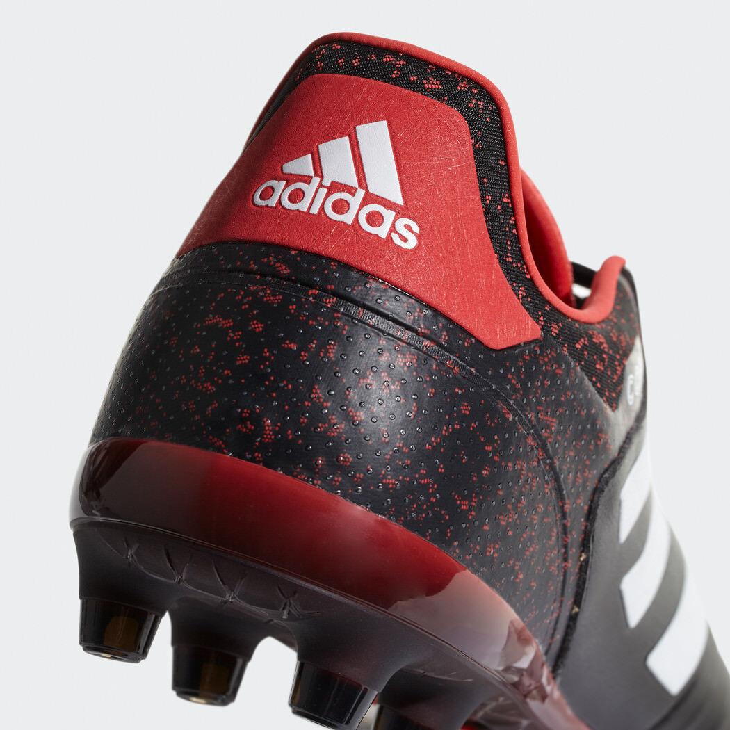 Adidas copa 18.2 FG botas de fútbol de cuero soccerboats negro rojo [cp8953]