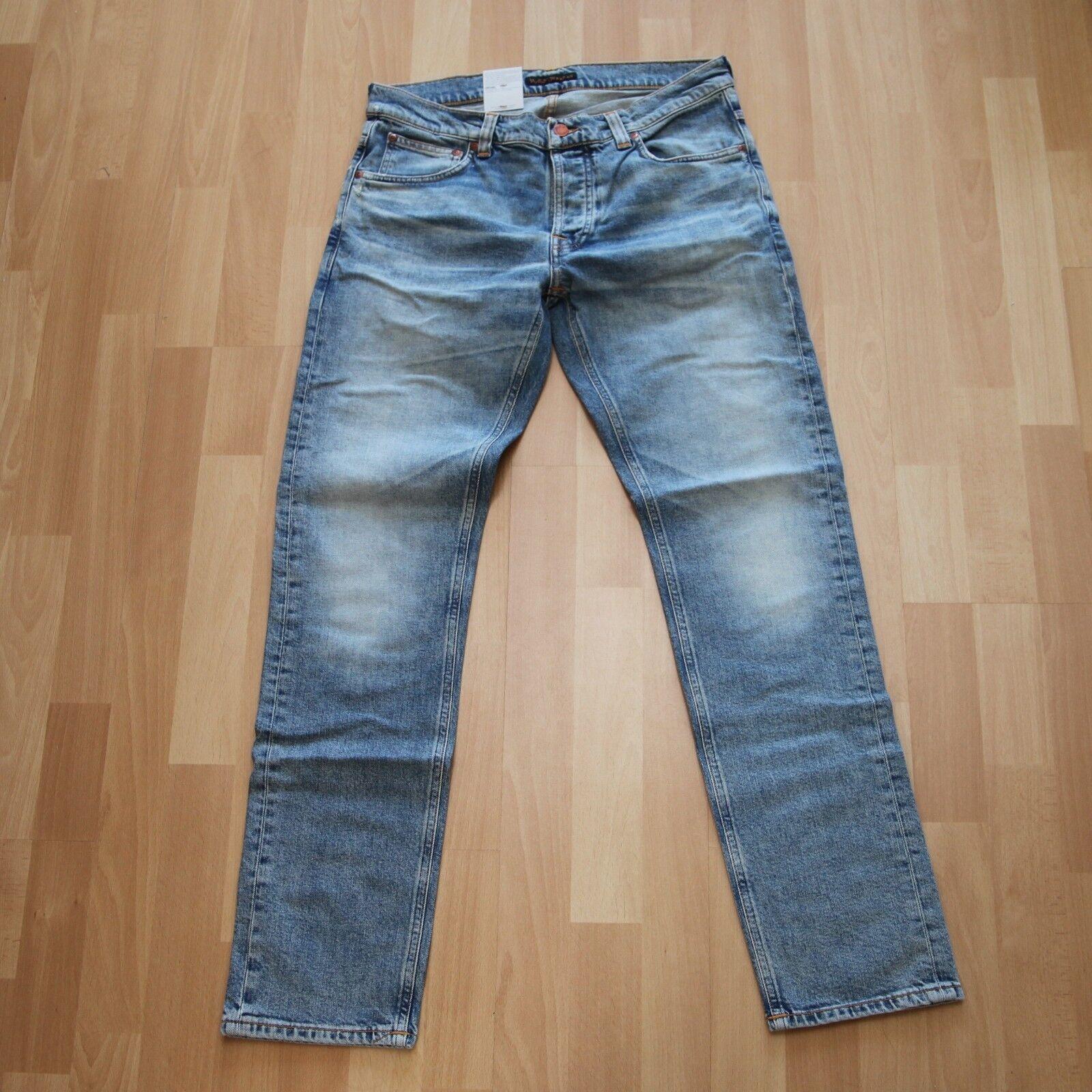 NUOVO Nudie Jeans, Fearless Freddie (loose Anti Fit) Heavy Broken Denim 32 32