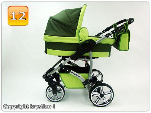 Nouveau système de voyage bébé siège auto-roulettes multidirectionnelles landau poussette poussette buggy