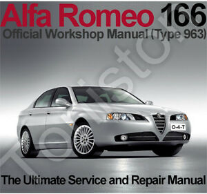 Alfa-Romeo-166-1998-to-2007-Type-963-Workshop-Service-and-Repair-Manual-on-CD