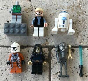 MIXED-LEGO-Star-Wars-MiniFigure-lot-Super-Battle-Droid-R2-D2-Luminara-UNDULI-VG