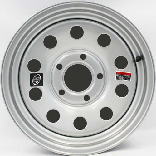 "5-5/"" bolt Circle 15/"" x 5/"" Silver Modular Trailer Wheel"