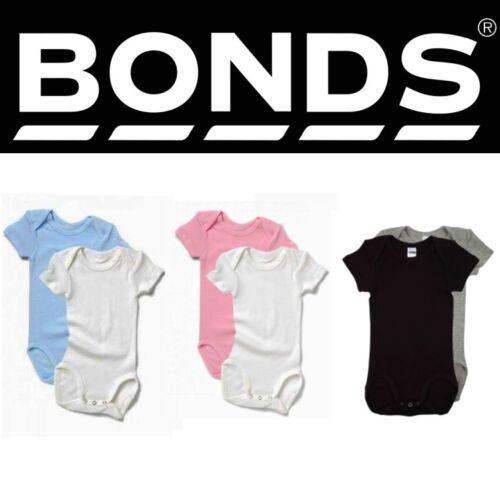 BONDS BABY SHORT SLEEVE SINGLET SUIT Tee Bodysuit Boys Girls Basics BZKFGX