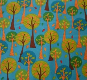 On-The-Road-BTY-Studio-8-Quilting-Treasures-Trees-on-Teal-Dark-Turquoise