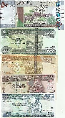 100% Quality Africa Lot 5 Notes. High Value. Vf-xf Condition. 5rw 14mar Latest Technology