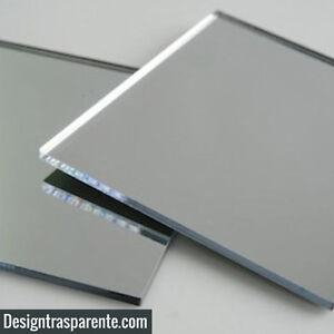 Lastra-SPECCHIO-IN-ACRILICO-3mm-24x24cm-fogli-di-plastica-Perspex-plexiglass