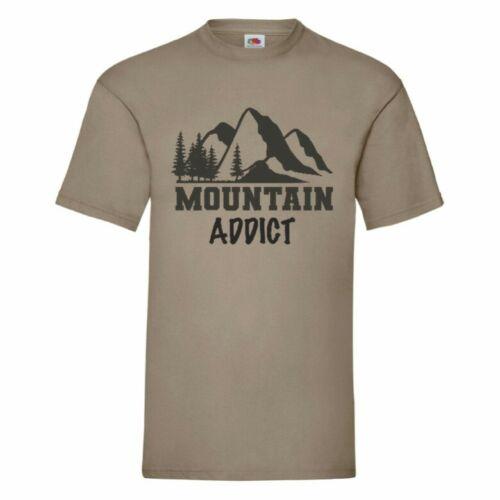 Mountain Addict Unisex T Shirt Small-5XL 16 Colours Walking, Climbing, Hiking