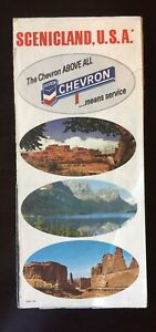 1967 Chevron Scenicland, U.s.a Vintage Feuille De Route.-afficher Le Titre D'origine Belle Qualité
