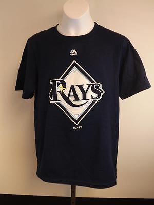 Diszipliniert New-minor-flaw Tampa Bay Rays Jugendliche Unisex M Medium 10/12 Blue Shirt Weitere Ballsportarten