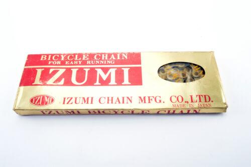 NEW Izumi Easy Running Gold 5-6-7 speed road chain 1//2 x 3//32 116 links NOS//NIB