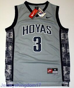 92dd0f1d397 Image is loading NCAA-Throwback-Basketball-Jersey-ALLEN-IVERSON-3-Georgetown -