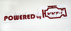 Powered By Toyota Decal Sticker AE86 FRS CELICA CAMRY SUPRA Pair