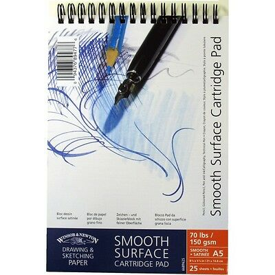 Winsor /& Newton Smooth 150gsm Spiral Cartridge Pads All sizes