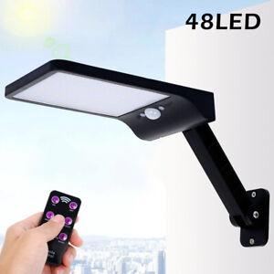 Lampada-Solare-48LED-faretto-Luce-pannello-Fotovoltaico-sensore-movimento-PIR