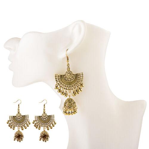 Hot Vintage Style Bohémien Argent Or Big Earring Hook Drop Bell Femmes Boucles D/'oreilles