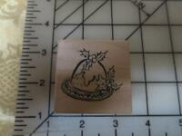 Psx C-2726 Christmas English Plum Pudding Wood Mounted Rubber Stamp C-2726