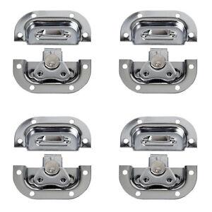 4-x-DAP-Butterfly-Lock-Medium-Metal-Silver-Flightcase-Hardware-Catch-Recessed
