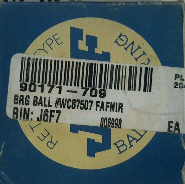 j6f7 JAF BRG BALL   # WC87507 FAFNIR BRG BALL  # 207kt  FAFNIR Bin:060726a