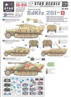 Star Decals 1/35 German Sdkfz 251 Ausf.d Half Track On The Eastern Front 1945