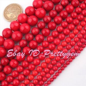 2-3-4-6-8-10-12mm-Natural-Round-Red-Coral-Gemstone-Beads-Spacer-Loose-Strand-15-034