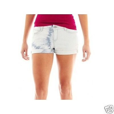 19 New Msrp $34.00 Scuba Blue 1 Arizona Bedford Cord Shorts Junior Size 0