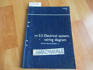 2001 SAAB 9-5 Electrical System Wiring Diagrams Edition 1 ...