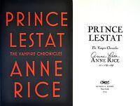 Anne Rice Signed & Datedprince Lestat1st/1st + Photos Vampire Chronicles