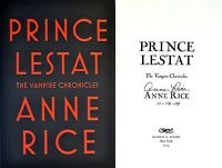 Anne Rice Signed & Datedprince Lestat1st/1st + Photos Vampire Chronicles
