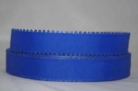 1717 Blau Zacke 22mm Ripsband Webband Borte